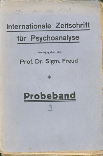 Internationale Zeitschrift für Psychoanalyse, 1923 (Probeband inkl. Hefte 1, 2 und 4)