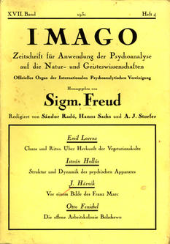 IMAGO, 1931, Ausgabe 4, XVII. Band