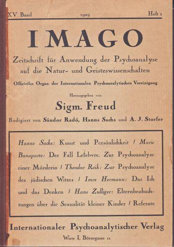 IMAGO, 1929, Ausgabe 1, XV. Band