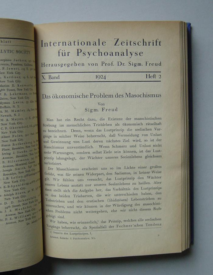 Internationale Zeitschrift für Psychoanalyse, X. Band (1924)