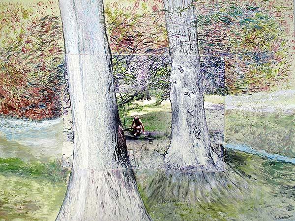 Dresden – Badender Junge im Wald