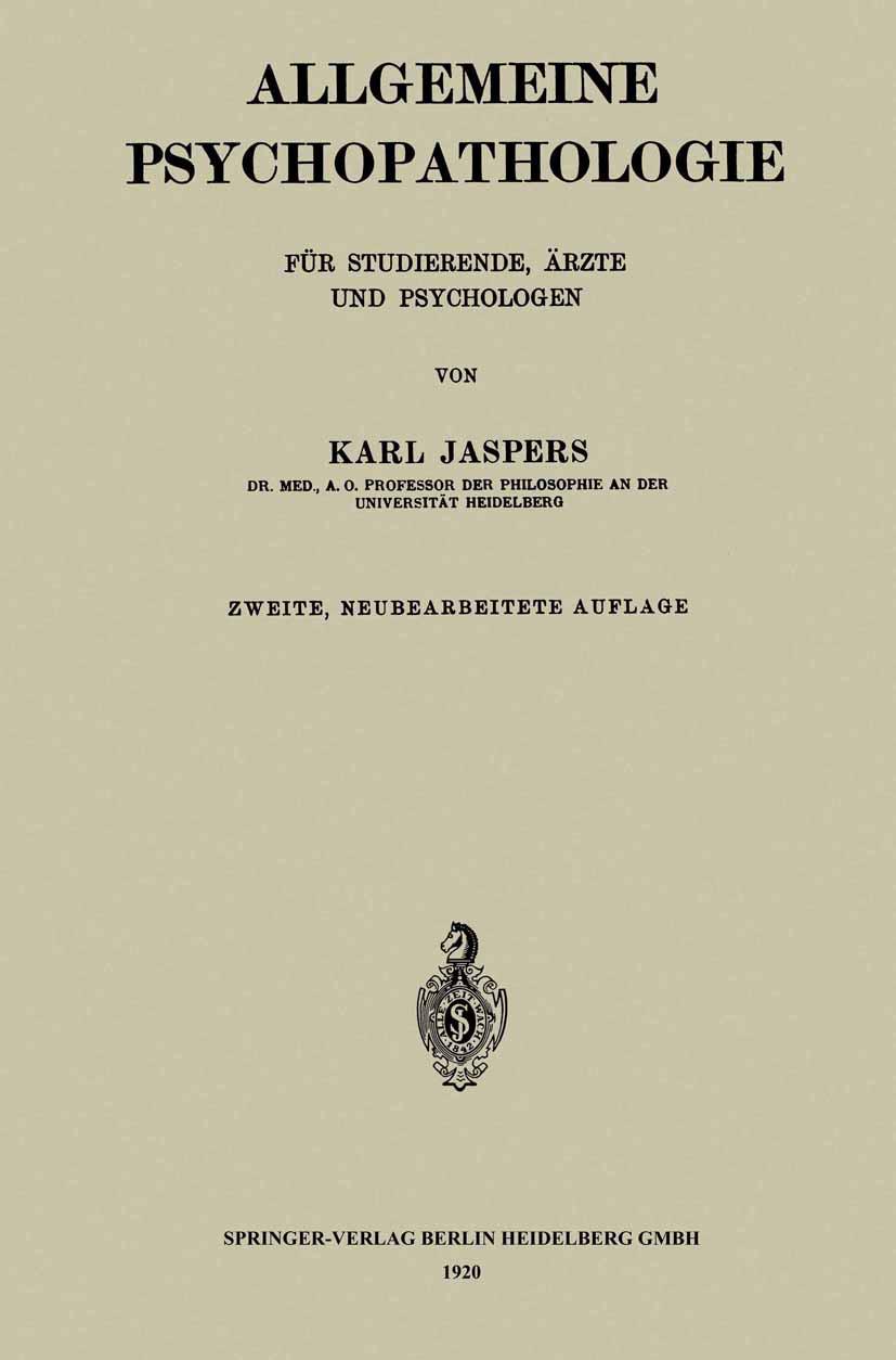 Allgemeine Psychopathologie für Studierende, Ärzte und Psychologen